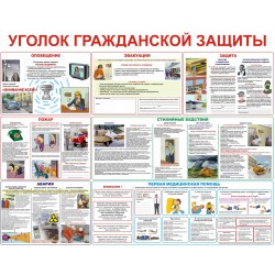 Плакаты Уголок гражданской защиты