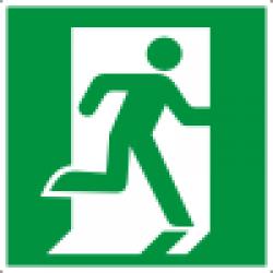 Знак E01-02 Выход здесь (Правосторонний)